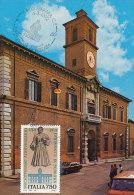 D16848 CARTE MAXIMUM CARD TRIPLE 1992 ITALY - FERRARA PALACE CP ORIGINAL - Architecture