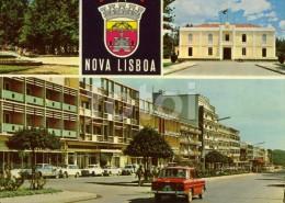 PHOTO POSTCARD  NOVA LISBOA HUAMBO ANGOLA AFRICA CARTE POSTALE CARS VOITURES RENAULT 8 CITROEN DS - Angola