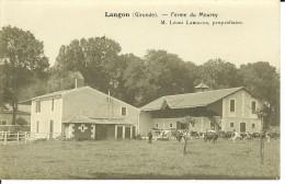 CPA - LANGON    Ferme Du Mourey- Léoni  LANGLOIS Propriétaire- 9680 - Langon