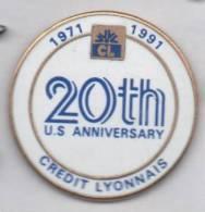 Banque Crédit Lyonnais , 20th US Anniversary - Banken