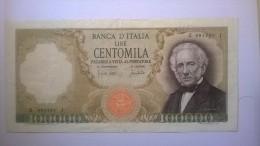 REPUBBLICA ITALIANA - Lire Centomila (100000) A. Manzoni 19/7/1970 Con Fibrille BB - [ 2] 1946-… : Repubblica
