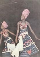 P3715 Guinea Types Danseuses Du Ballet Natinal   Front/back Image - Guinea Bissau