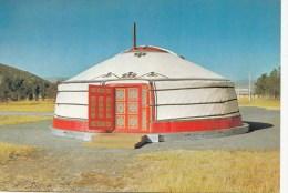 P3640 A Mongolian Yurt Mongolia  Front/back Image - Mongolie