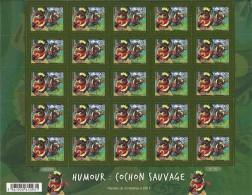 2014 Humour Cochon Sauvage Sous La Faciale Feuille De 25 ** - Polynésie Française