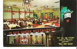On Rock Garden Restaurant, Montreal Quebec Les Meilleurs Mets Chinois. Atmosphere Orientale - Montreal