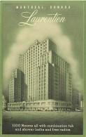 Pays Div- Canada -ref B931- Hotel Laurentien - Montreal - Carte Bon Etat   - - Canada