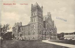 Pays Div- Canada -ref B928- Woodstock - Ont- Court House - Carte Bon Etat   - - Canada