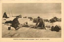 Pays Div- Canada -ref B927- Missions D Extreme Nord Canadien - Le Repas Sur La Glace  - Carte Bon Etat   - - Canada