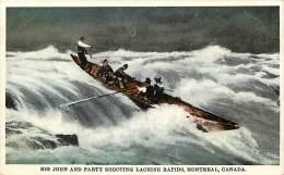 Pays Div- Canada -ref B922- Big John And Party Shooting Lachine Rapids, Montreal  - Carte Bon Etat  - - Canada