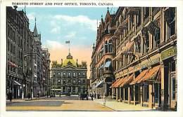 Pays Div- Canada -ref B920- Toronto Street And Post Office - Toronto  - Carte Bon Etat  - - Canada