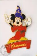 Large Walt Disney Mickey Mouse In Magician Suit  - McDonald Pin Badge - #PLS - Disney
