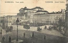 Pays Div- Pologne-ref B887- Warszawa - Varsovie - Warschau - Tramway - Carte Bon Etat  - - Pologne