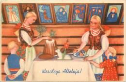 Pays Div- Pologne-ref B886- Illustrateur Enfants - Wesotego Alleluja !- Carte Bon Etat  - - Pologne