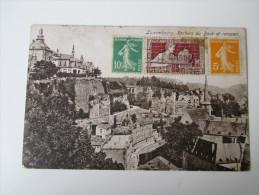 AK Luxembourg. Rochers Du Bock Et Rempart. Verwendet In Frankreich Menton Alpes-Maritimes 1925 Nach Rotterdam - Luxemburg - Stadt