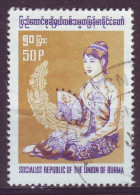 Burma, 1974/78 - 50p Woman With Fan - Nr.249 Usato° - Myanmar (Burma 1948-...)