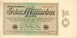 Deutschland, Germany - 10 Mrd. Mark, Reichsbanknote, Ro. 113 D ,  ( Serie AC ) UNC - XF, 1923 ! - 10 Milliarden Mark