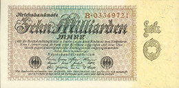 Deutschland, Germany - 10 Mrd. Mark, Reichsbanknote, Ro. 113 A ,  ( Serie B ) UNC, 1923 ! - [ 3] 1918-1933 : Weimar Republic