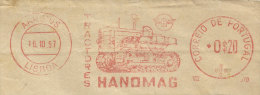 Portugal EMA Cachet Rouge Tracteurs Hanomag Agriculture 1957 Tractors Franking Meter - Agriculture
