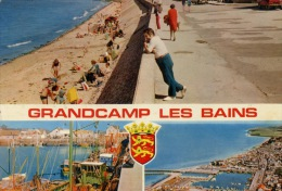 Grandcamp Les Bains - Maisy Multivues Aérienne - Front De Mer - Port Animée N°0402 Combier - France