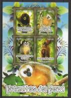 Peru (2011)  Yv. 1980/83  /  Fauna Monkeys - Faune Singes - Fauna Monos - Primates - Apen