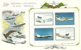 1981 - Italia - Crociera Atlantica - Foglietto Erinnofilo, - Flugzeuge