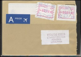 BELGIUM Postal History Brief Envelope Air Mail BE 008 Automatic ATM Stamps - Zonder Classificatie