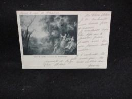 Carte Ancienne  ( Avant 1904 ). Tableau De Lancret . Le Printemps . Musée Du Louvre. - Peintures & Tableaux