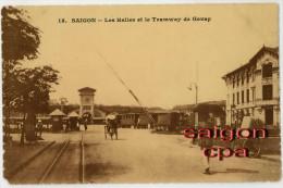 Vietnam-Indochine-Saigon-Tramway- Marché Saigon - Viêt-Nam