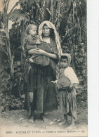 AFRIQUE - ALGERIE - SCENES ET TYPES - Femme Et Enfants Bédouins - Algérie