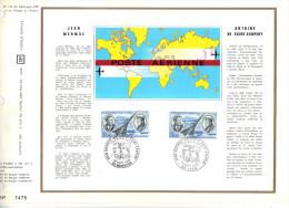 Premier Jour D´ Emission, FDC: Poste Aerienne, 1970, Jean Mermoz, Antoine De Saint Exupery, Aubenton, Lyon (14-1687) - FDC