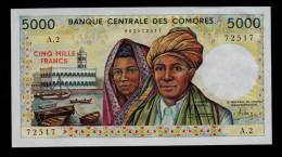 COMORES 5000 FRANCS ( 1984 ) A2 PICK # 12a UNC. - Komoren