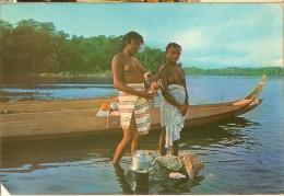 Guyane-femmes Bosch-seins Nus-fleuve Maroni-cpm - Autres