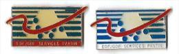EG21 - EDF GDF - SERVICES PANTIN - 2 Pin's Différents - Verso : SM - EDF GDF