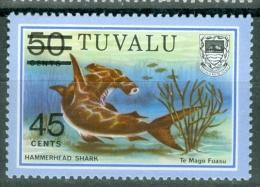Tuvalu 1981 No. 109 Surcharged Fish MNH** - Lot. 2441 - Tuvalu