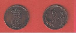 DANEMARK  //  5 ORE 1874  //  ETAT  TTB - Danemark