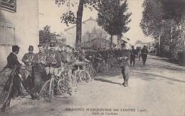 Militaria - Grandes Manoeuvres - Région Centre - Compagnie Cyclistes - Manoeuvres