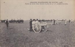 Militaria - Grandes Manoeuvres - Région Centre - Batteries De Canons 75 - Manoeuvres
