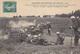 Militaria - Grandes Manoeuvres - Région Centre - Infanterie Tranchée - Officier / Cachet Cosnes Sur L'Oeil 1908 - Manoeuvres