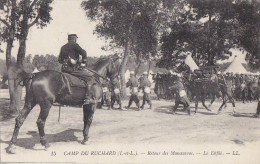 Militaria - Grandes Manoeuvres - Camp Du Ruchard 37 - Cavalier Officier Infanterie - Manoeuvres