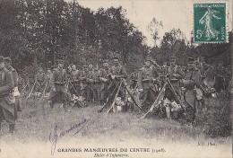 Militaria - Grandes Manoeuvres Du Centre / Régiment  Infanterie Repos - Manoeuvres