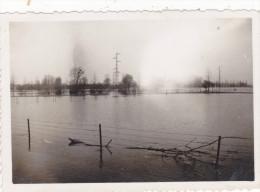 AISNE,PICARDIE,INONDATION DE CONDREN EN 1937,vue Historique Unique,rivière Oise Qui Déborde,rare
