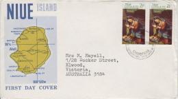 Niue Stamps On FDC - Weihnachten