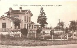 Cpa 70 Saint Loup Sur Semouse La Gare Rare A Saisir - France