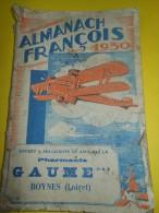 Almanach FRANCOIS/Produits Pharmaceutiques/ Pharmacie GAUME / Boynes /Loiret / 1930     CAL158 - Health