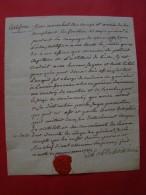 Révolution:  BOISSIEU Du BAS NOIR Général En 1788 . Lettre Signée Le 1er Mars 1789 - Documentos Históricos