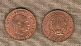SIERRA LEONE -  1  Cent 1964  KM17 - Sierra Leone