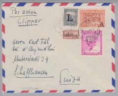 """Kolumbien 1952-03-19 Bogota Lansa Luftpost """"Lansa"""" Clipper Nach Schaffhausen - Colombie"""