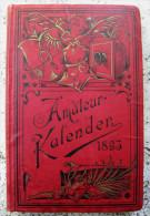 LIBRO TASCHEN KALENDER DR. A. MIETHE 1893 FREIEN PHOTOGRAPHISCHEN VEREINIGUNG ZU BERLIN PHOTOGRAPHEN FOTOGRAFIA - Biografie & Memorie