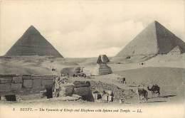 Pays Div- Egypte  -ref B798- Pyramides Et Sphinx   - Carte Bon Etat   - - Piramidi