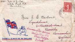 Canada Cover To GB From 1941, Very Interesting Cover With. There'll Always Be An England - 1937-1952 Reign Of George VI